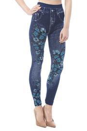 Julia Butterfly Jean Leggings - Product Mini Image