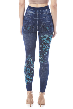 Shoptiques Product: Butterfly Jean Leggings