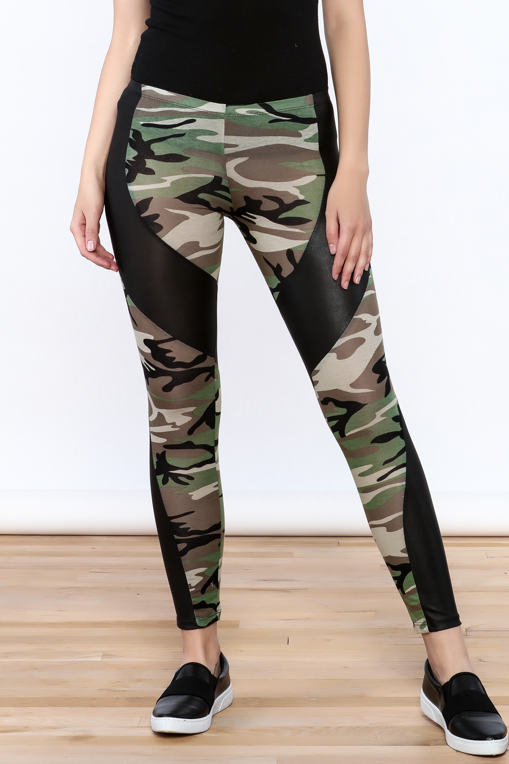 Julia Camouflage Print Leggings - Main Image