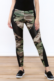 Julia Camouflage Print Leggings - Front cropped
