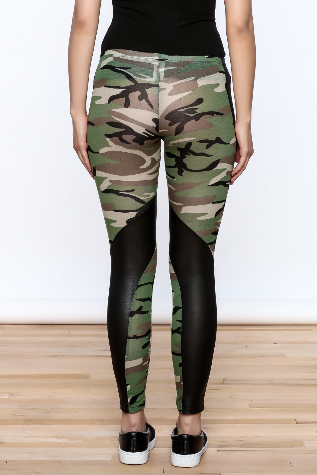 Julia Camouflage Print Leggings - Back Cropped Image