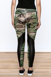 Julia Camouflage Print Leggings - Back cropped