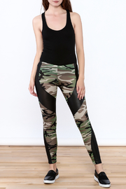 Julia Camouflage Print Leggings - Front full body