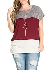 Julia Color Blocked Top - Front full body