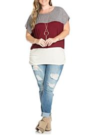 Julia Color Blocked Top - Front cropped