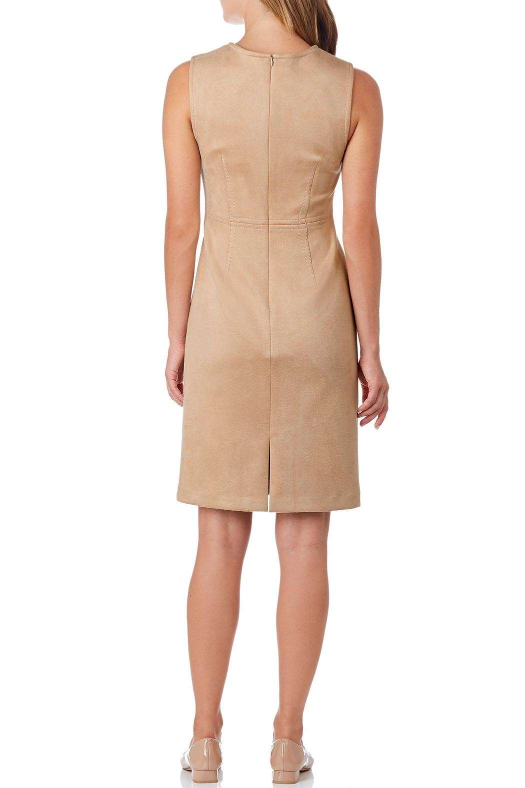 Jude Connally Julia Faux-Suede Sheath-Dress - Front Full Image