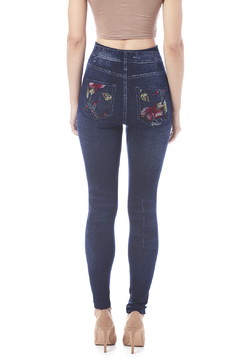 Shoptiques Product: Floral Jean Leggings