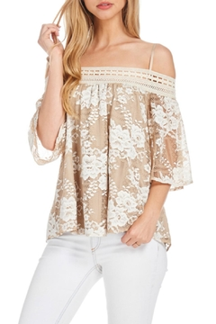 Julia Two Tone Lace Top - Product List Image