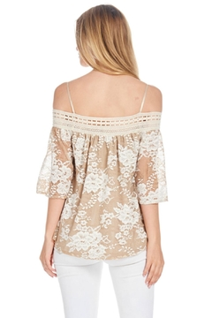 Julia Two Tone Lace Top - Alternate List Image