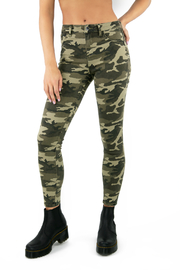 Tractr (New York Poplin) Julia Hi Rise Camo Jeans - Product Mini Image