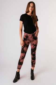 Tractr Julia High Rise Tie Dye Ankle Jeans - Product List Image