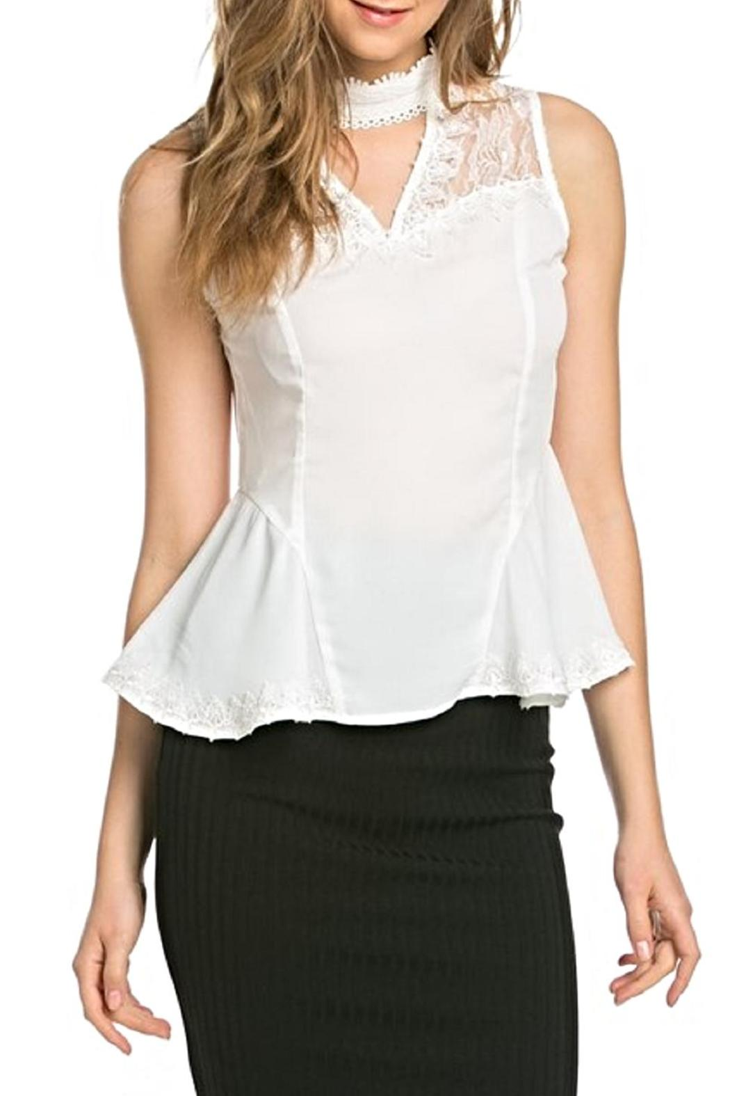 Julia Illusion Neckline Top - Side Cropped Image