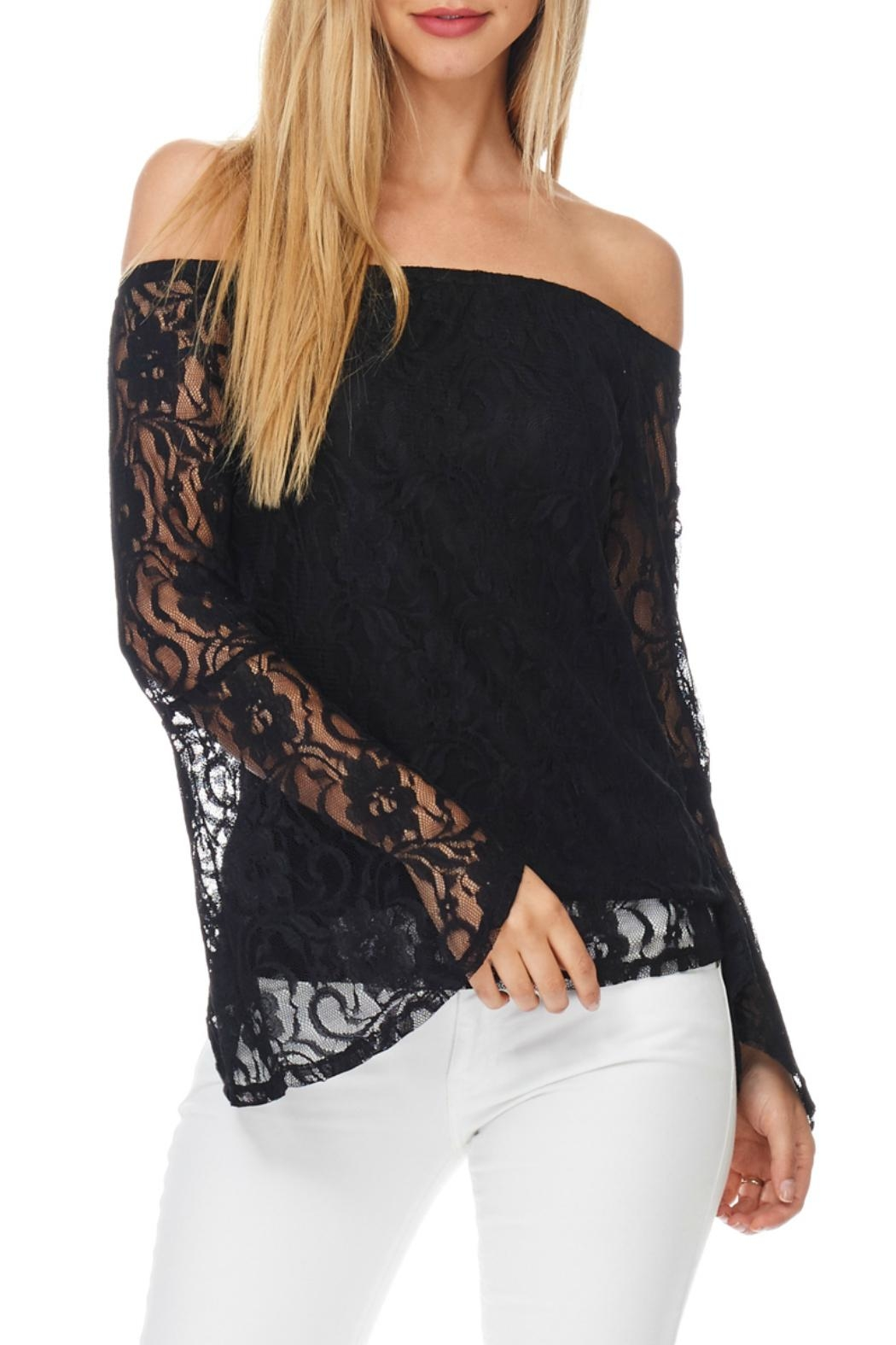 Julia Lace Bell Sleeve - Front Cropped Image