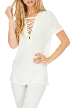 Julia Casual White Long Top - Product List Image