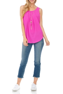 Julia Magenta Sleeveless Long Top - Product List Image