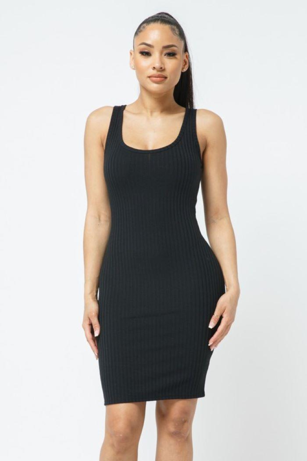 Julia Scoop Neck Bodycon Dress - Main Image