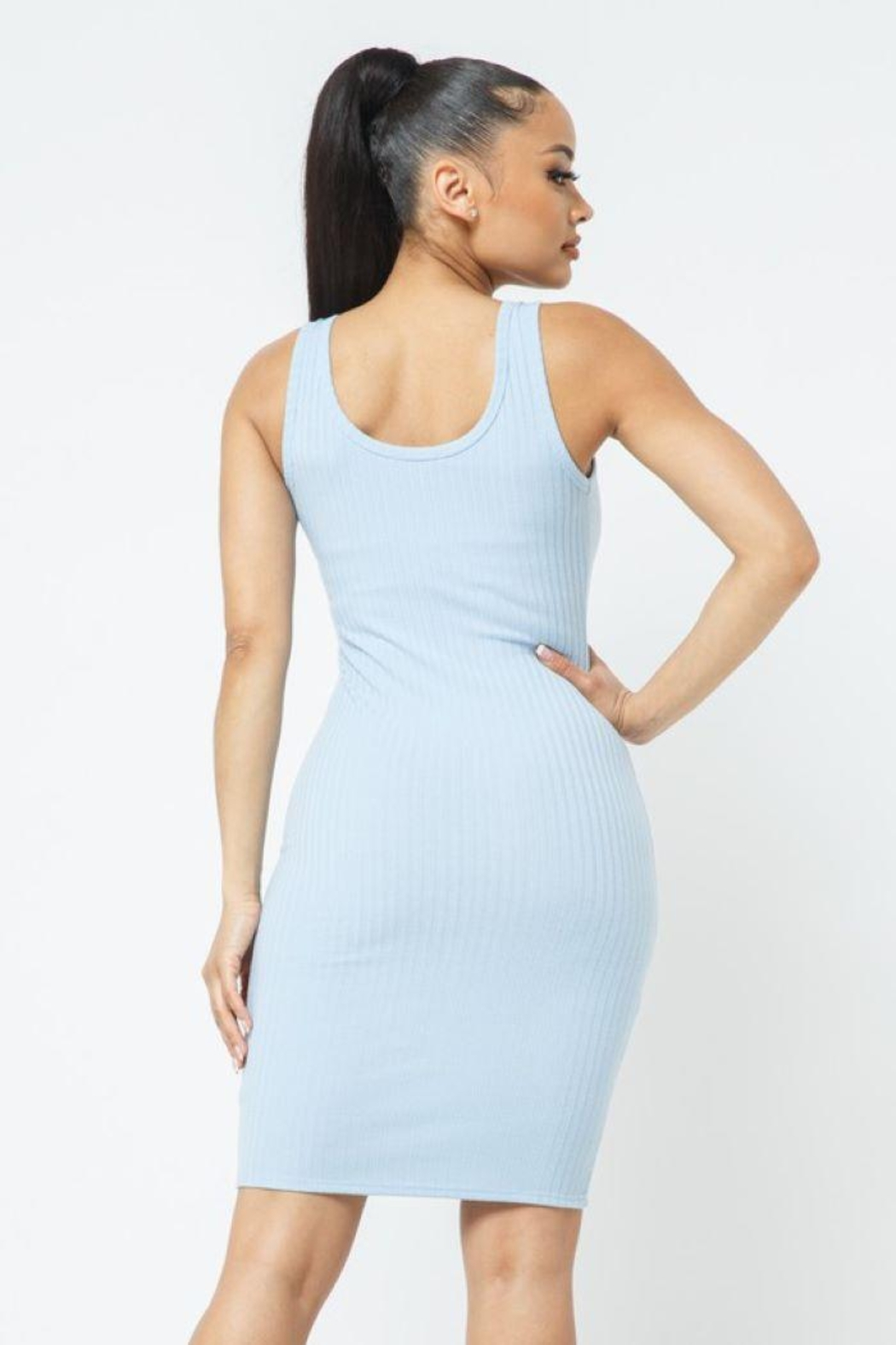 Julia Scoop Neck Bodycon Dress - Front Full Image
