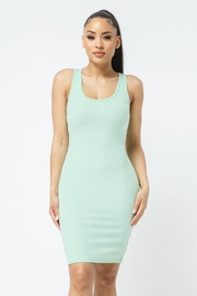 Julia Scoop Neck Bodycon Dress - Front full body