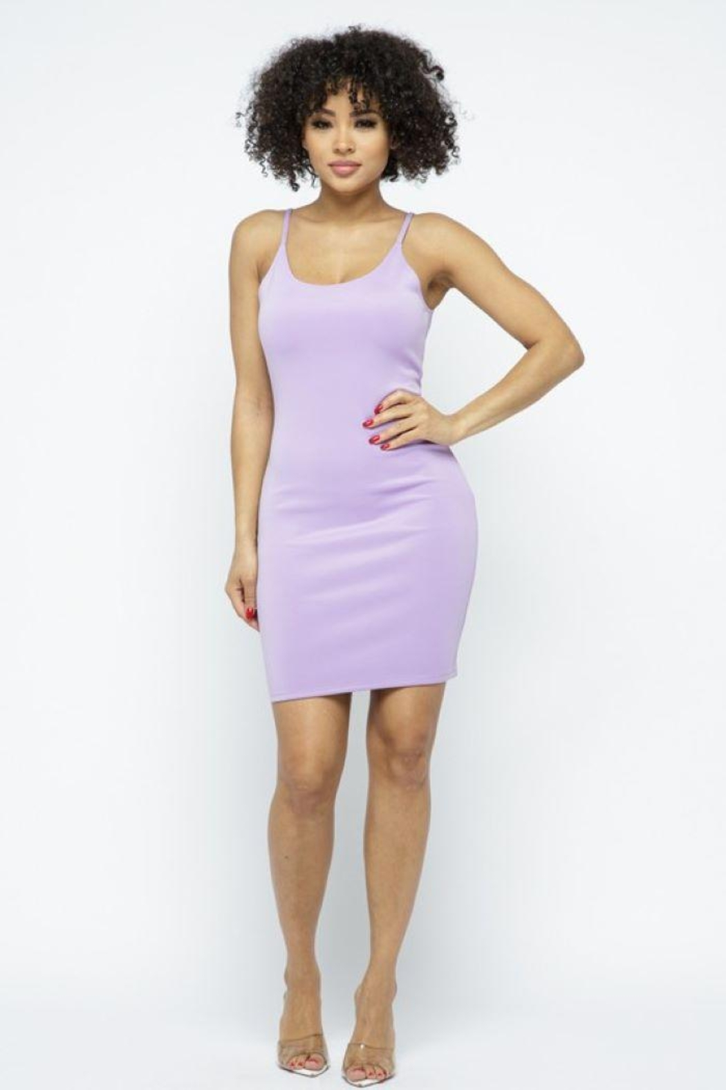 Julia Scuba Bodycon Tank Mini Dress - Front Cropped Image