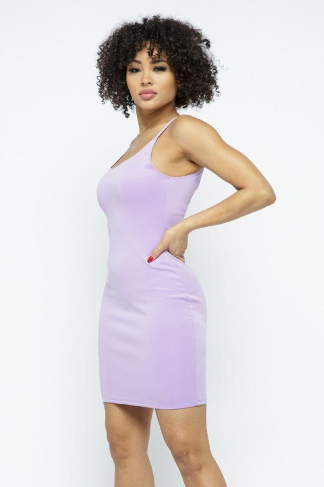 Julia Scuba Bodycon Tank Mini Dress - Back Cropped Image