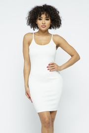 Julia Scuba Bodycon Tank Mini Dress - Front cropped