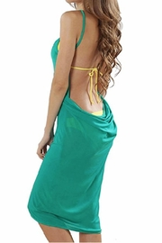 Julia Spaghetti-Strap Backless Beach-Dress - Front cropped