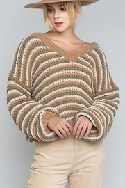 POL Julia Striped Sweater - Product Mini Image
