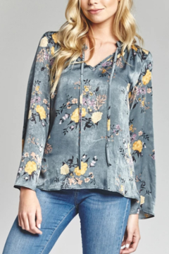 Mary and Mabel Julia Tie Neck top - Product List Image