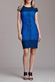Julia Jordan Short-Sleeve Snakeskin Dress - Product Mini Image