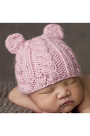 Blueberry Hill Julian Cable Bear Knit Hat - Product Mini Image
