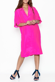 Julian Chang Silk Fucsia Dress - Product Mini Image