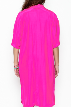 Julian Chang Silk Fucsia Dress - Alternate List Image