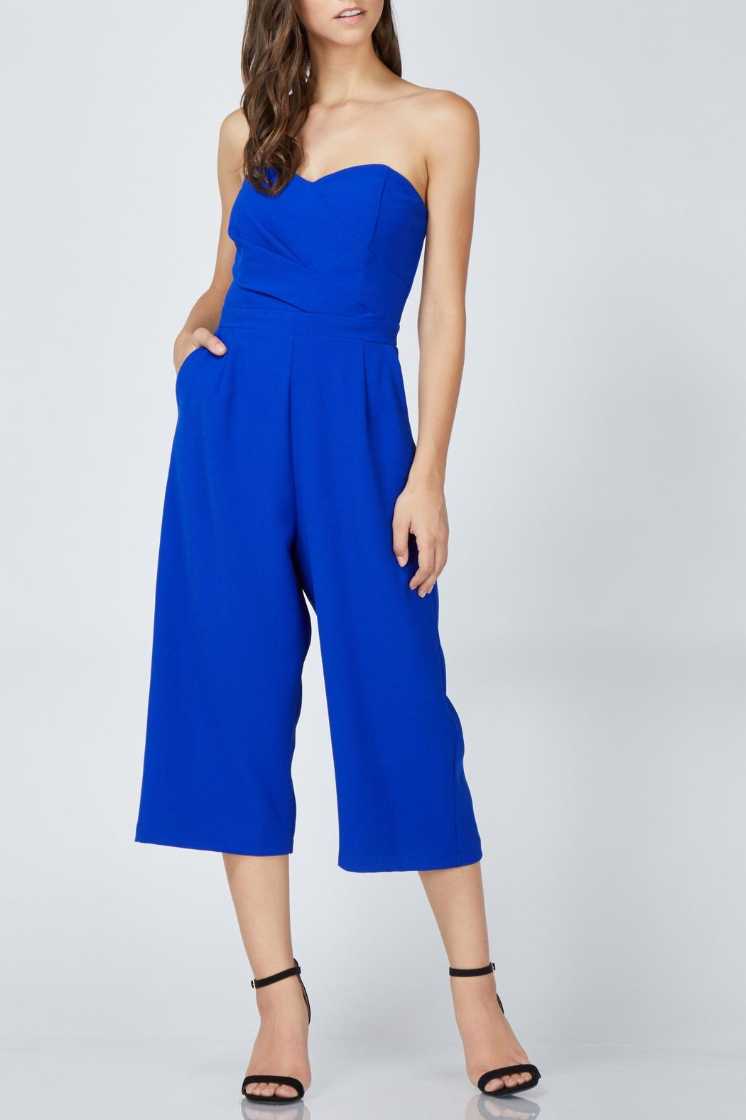 Adelyn Rae Julian Strapless Jumpsuit - Side Cropped Image