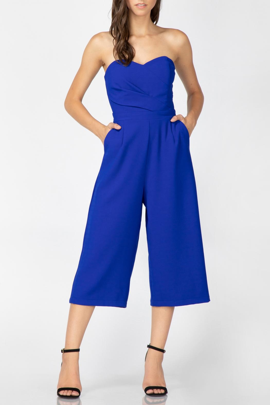 Adelyn Rae Julian Strapless Jumpsuit - Main Image