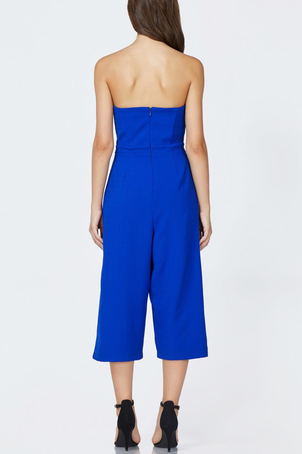 Adelyn Rae Julian Strapless Jumpsuit - Front Full Image