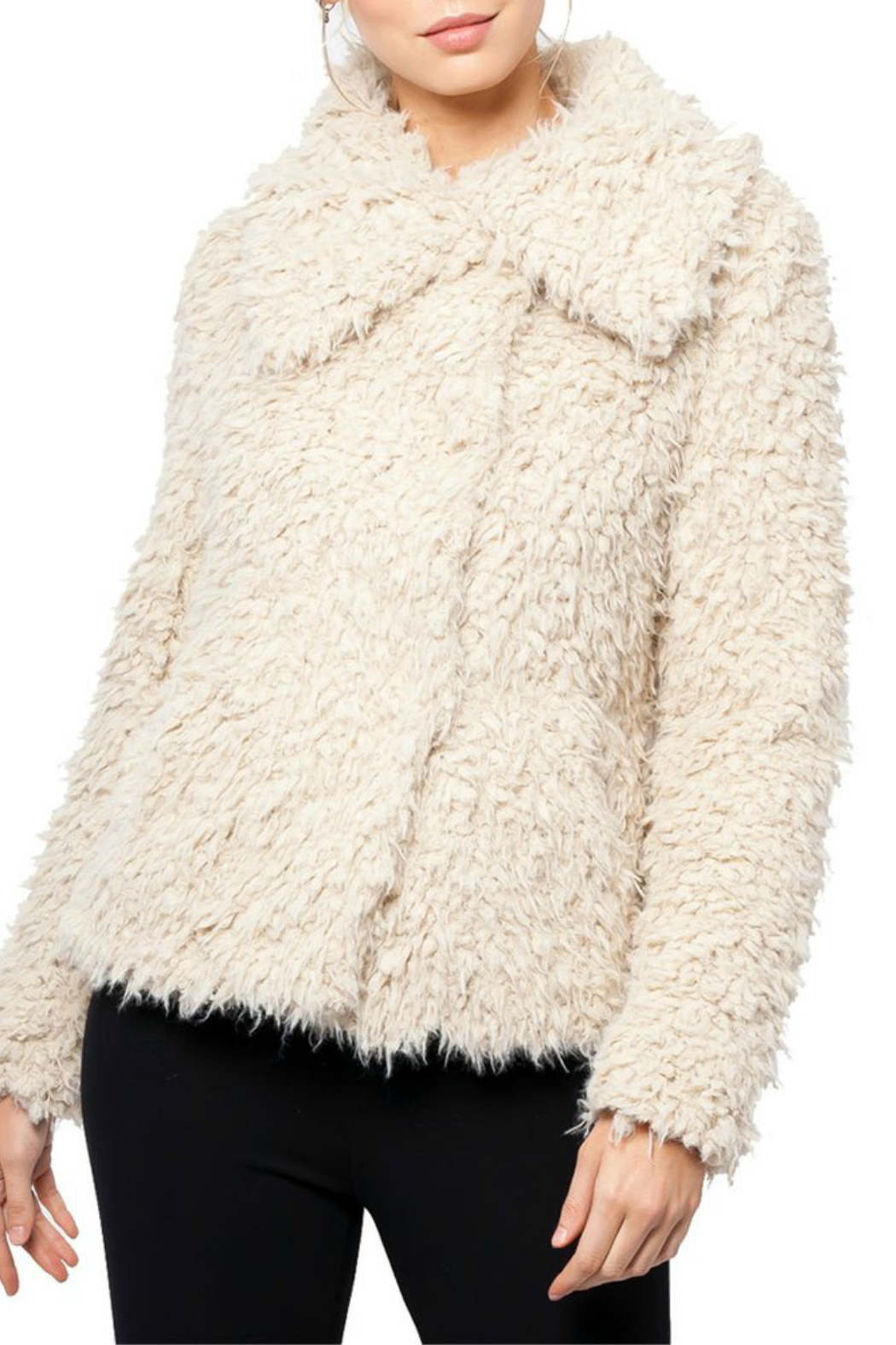 love token Juliana Furry Jacket - Front Cropped Image