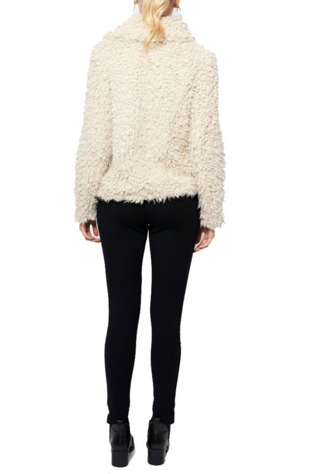 love token Juliana Furry Jacket - Side Cropped Image