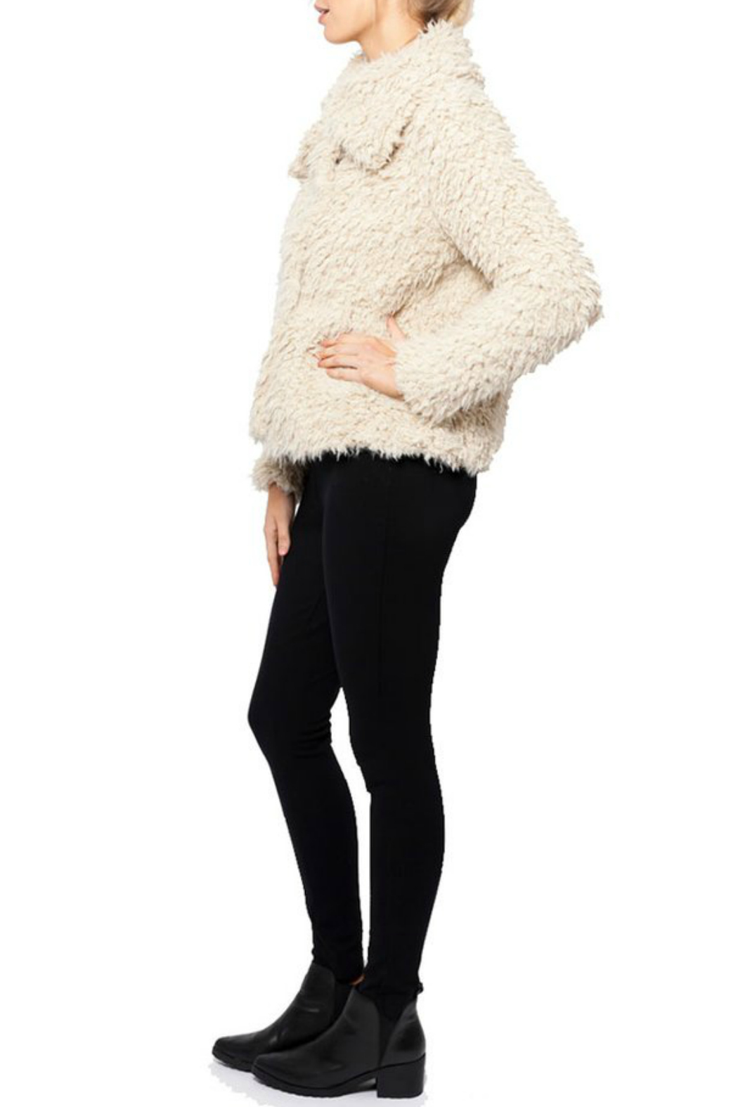love token Juliana Furry Jacket - Front Full Image