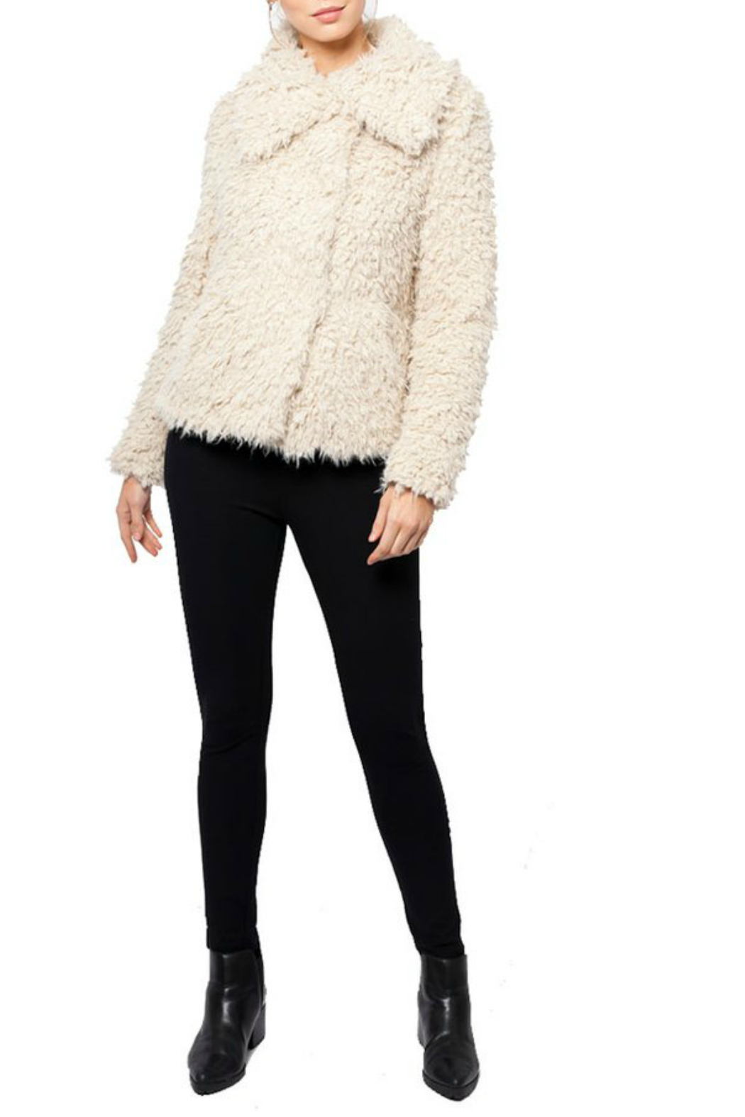 love token Juliana Furry Jacket - Back Cropped Image