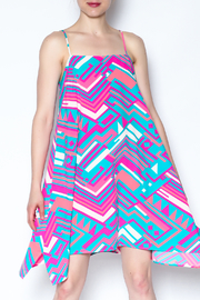 Julie Brown Vibrant Geometric Dress - Product Mini Image