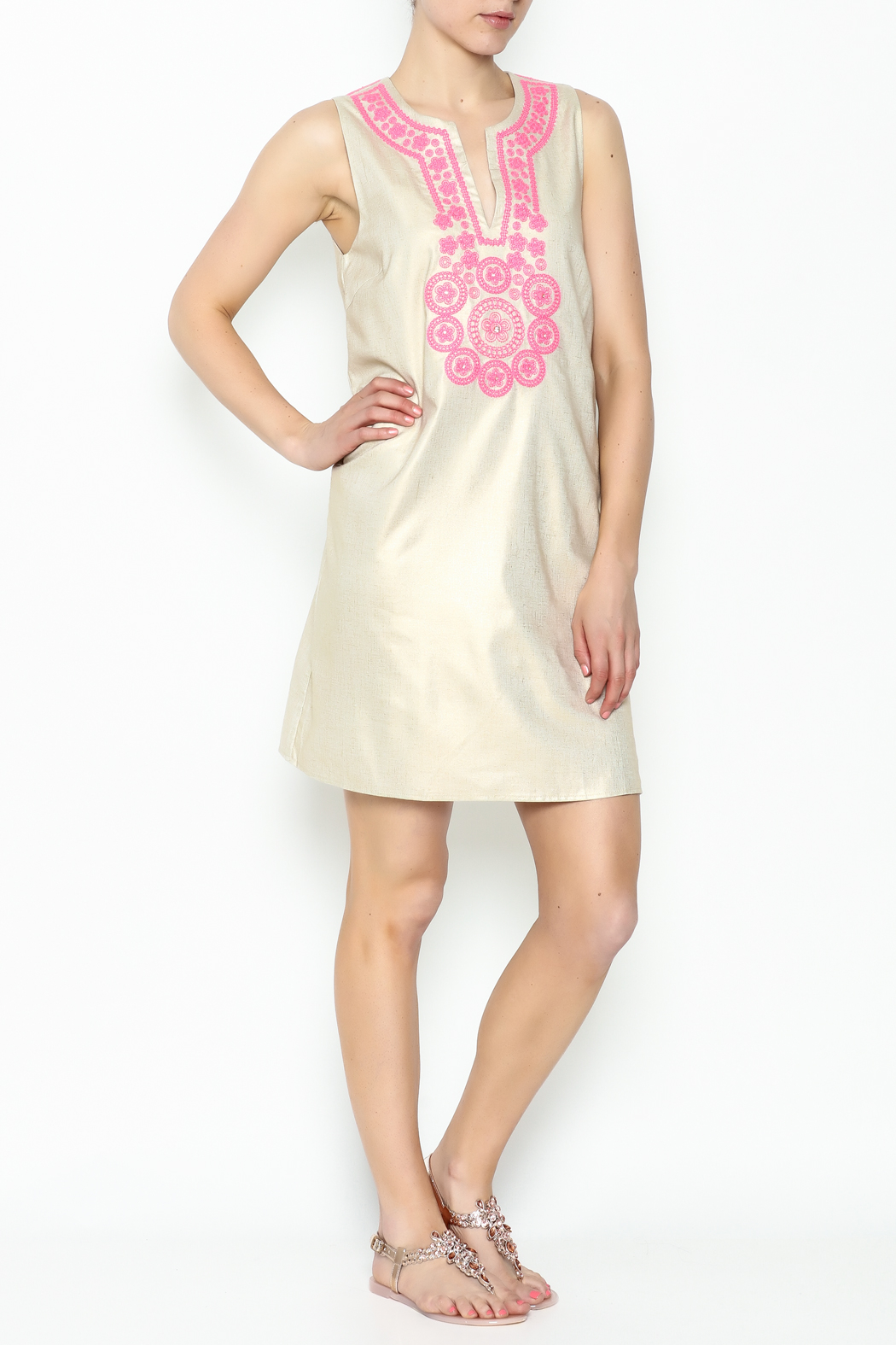 Julie Brown NYC Golden Gate Shift Dress - Side Cropped Image