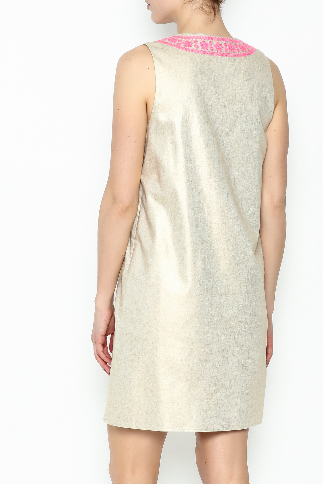 Julie Brown NYC Golden Gate Shift Dress - Back Cropped Image