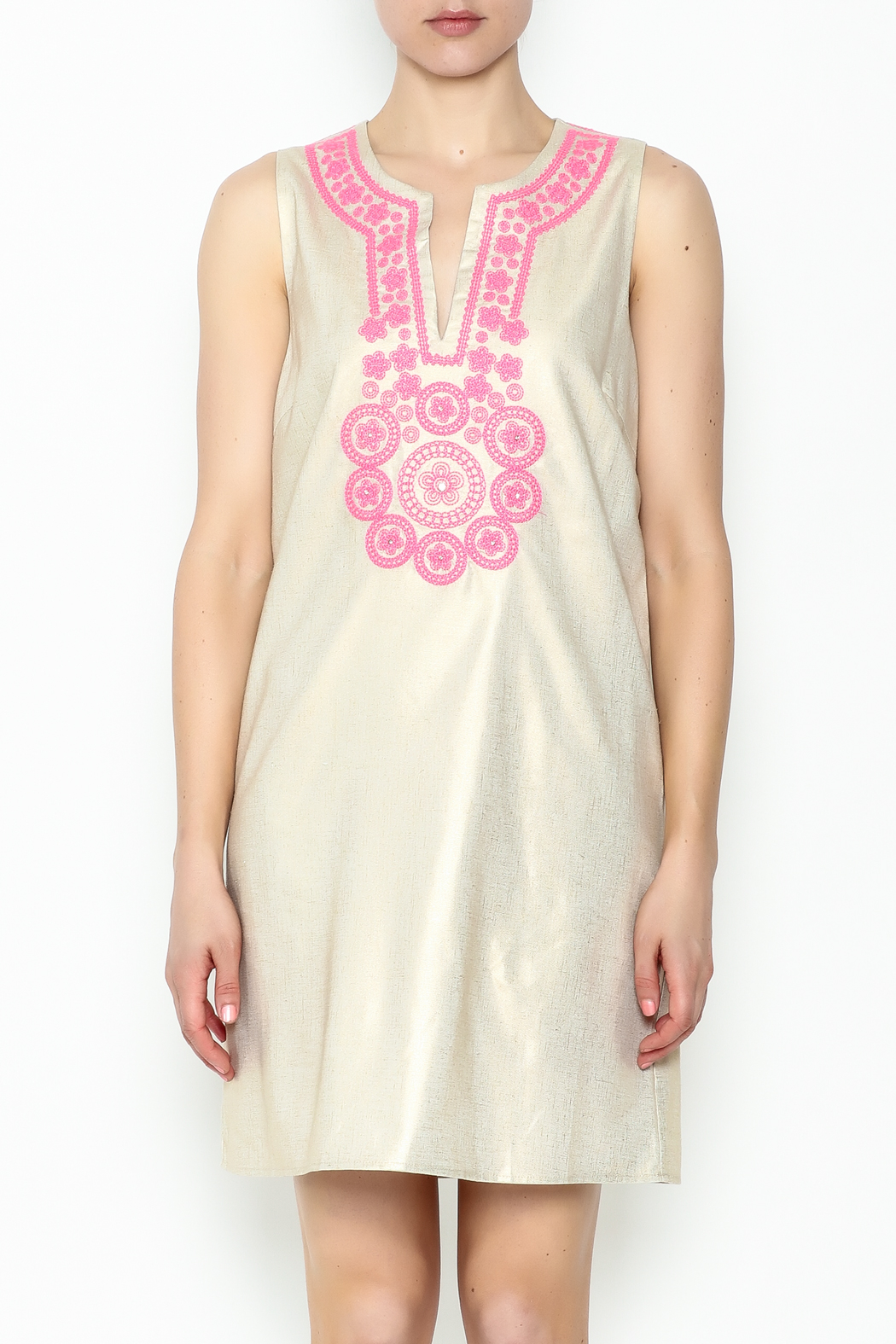 Julie Brown NYC Golden Gate Shift Dress - Front Full Image