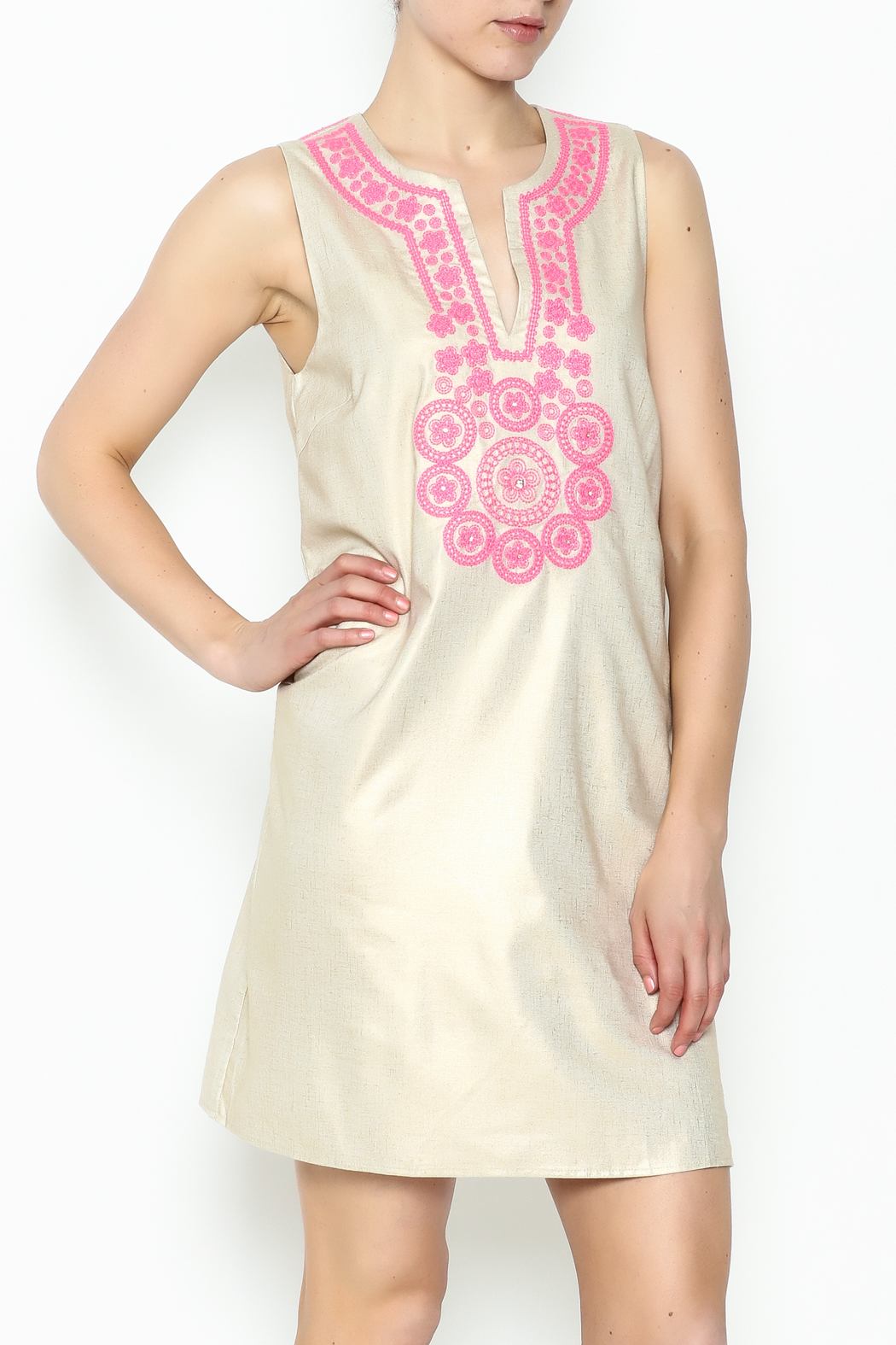 Julie Brown NYC Golden Gate Shift Dress - Front Cropped Image