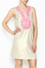 Julie Brown NYC Golden Gate Shift Dress - Front cropped