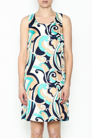 Julie Brown NYC Navy Swirl Leah Dress - Front full body