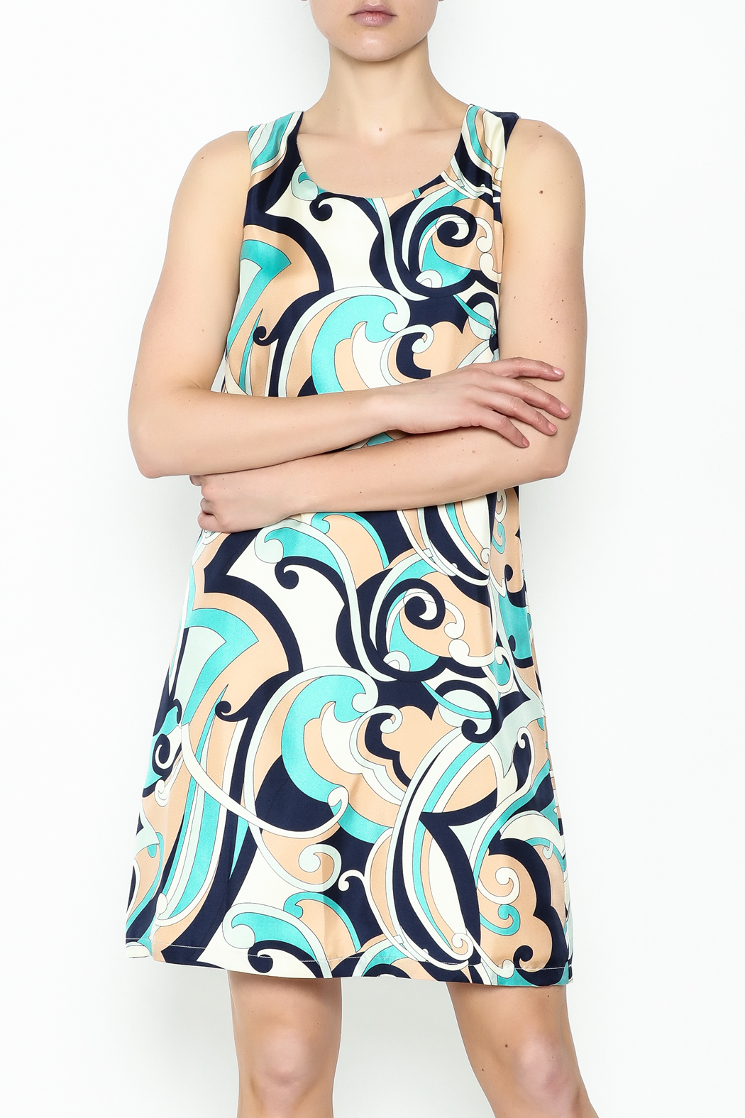 Julie Brown NYC Navy Swirl Leah Dress - Main Image