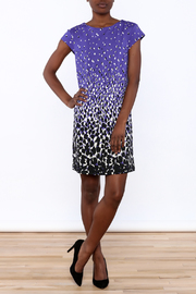 Julie Brown NYC Purple Cheetah Dress - Front full body