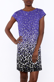 Julie Brown NYC Purple Cheetah Dress - Front cropped