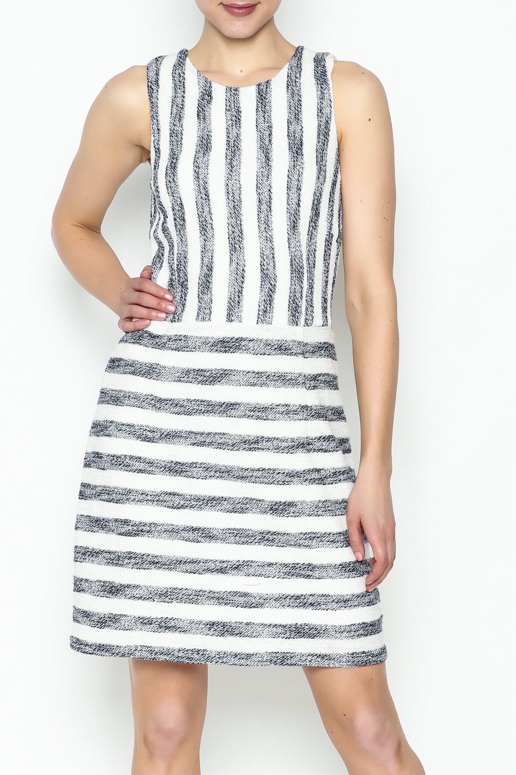 Julie Brown NYC Sailor Tweed Dress - Main Image